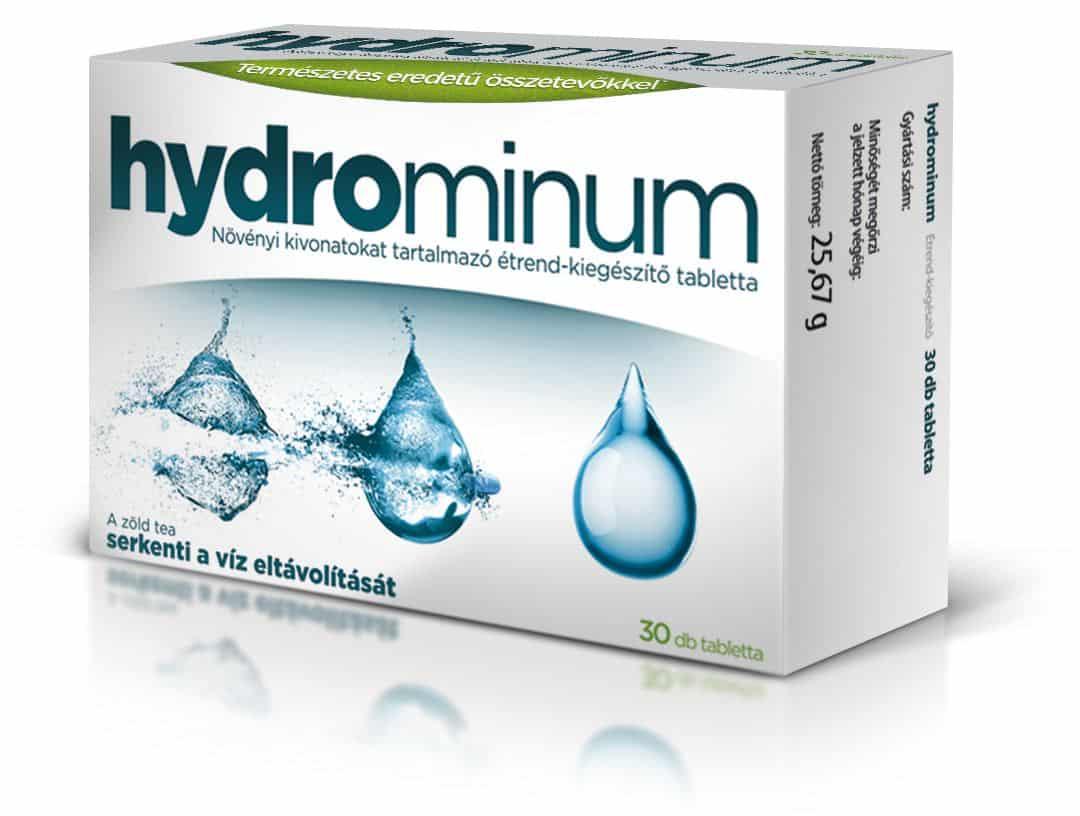 Gyógyszerek víz eltávolítására a testből - Hydrominum természetes vízhajtó tabletta 30 db