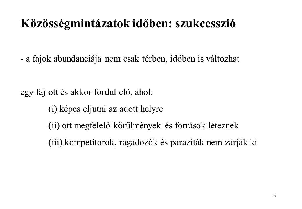 szukcesszió és paraziták)