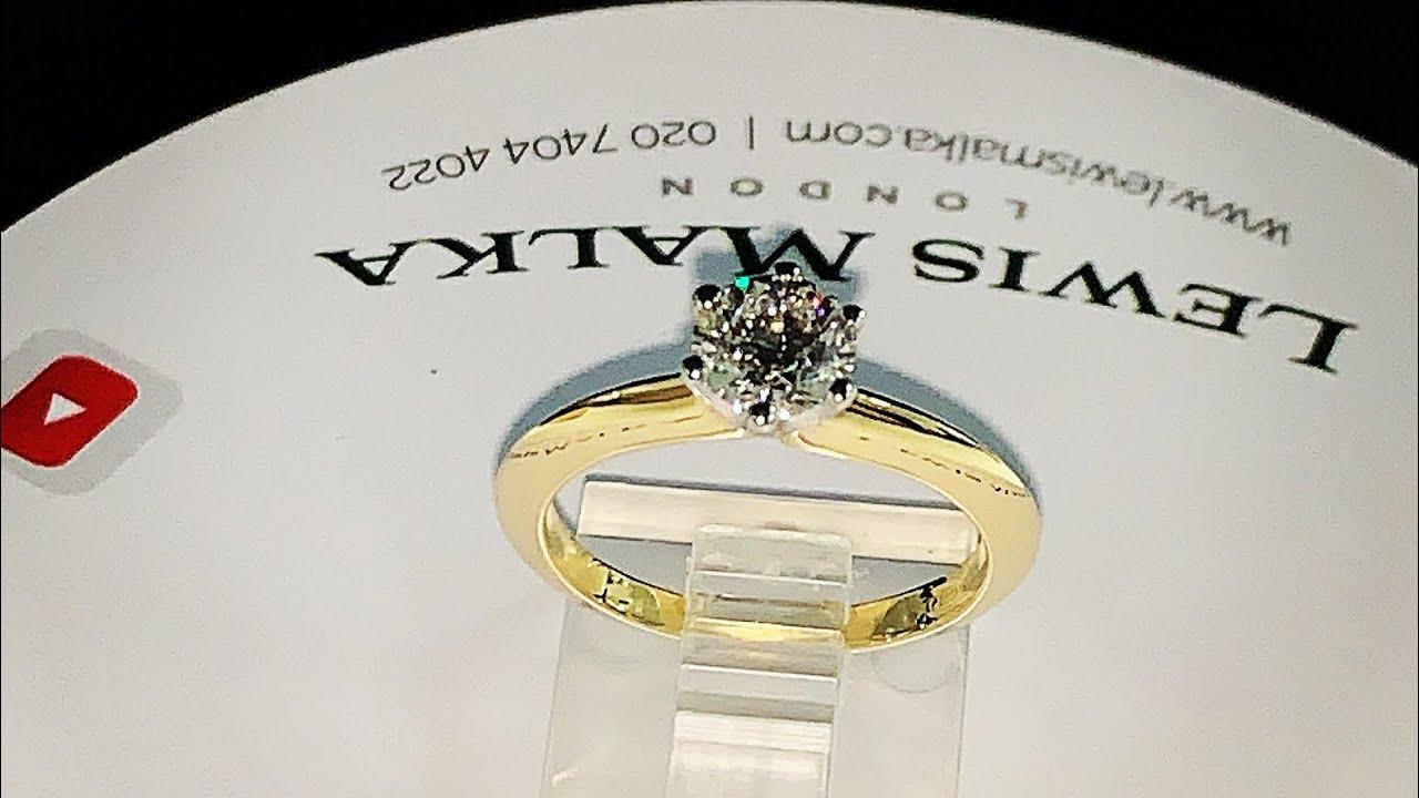 Egy karátos gyémánt gyűrű platinából