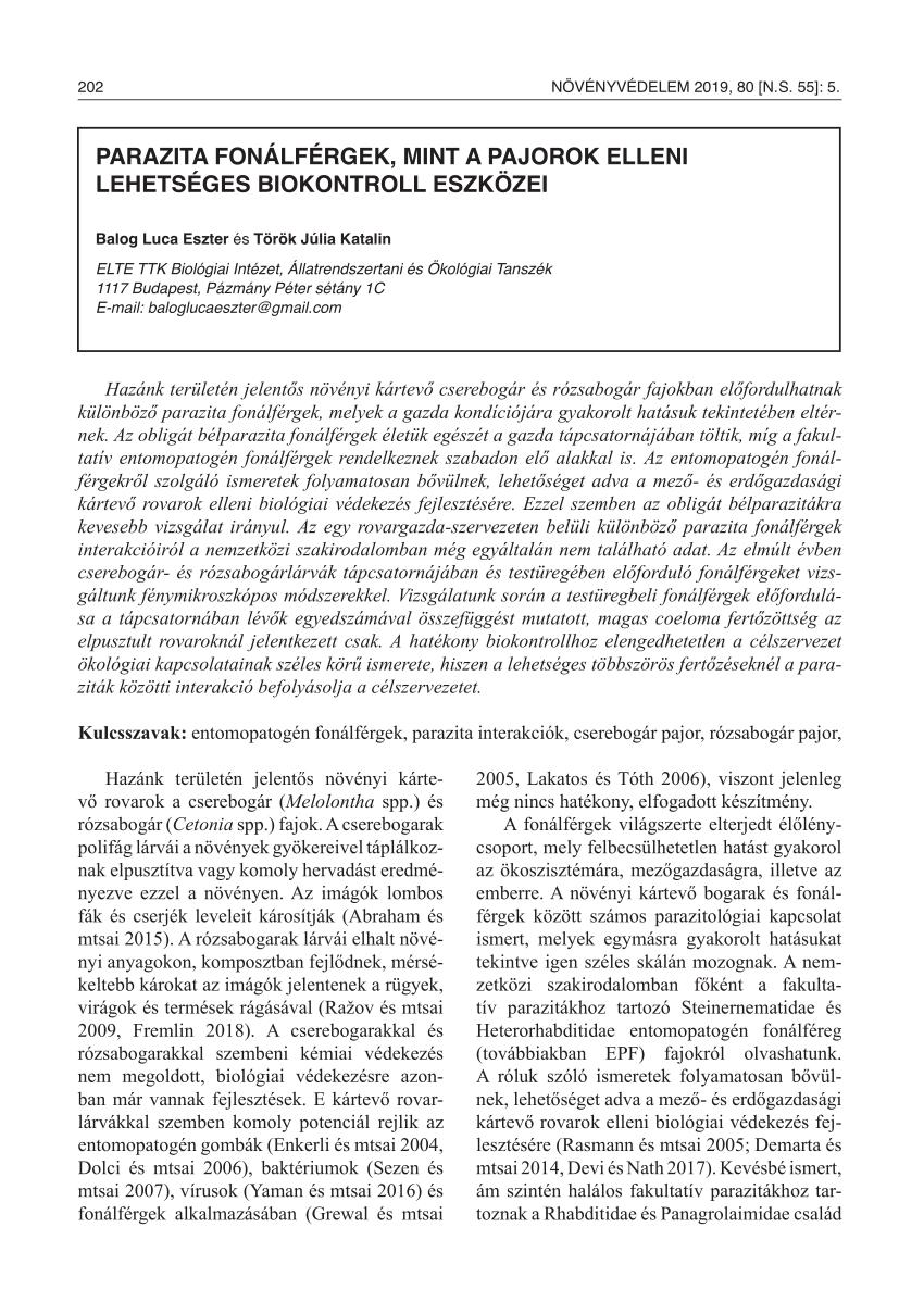 nigleria parazita paraziták az emberi arcbőr kezelésében